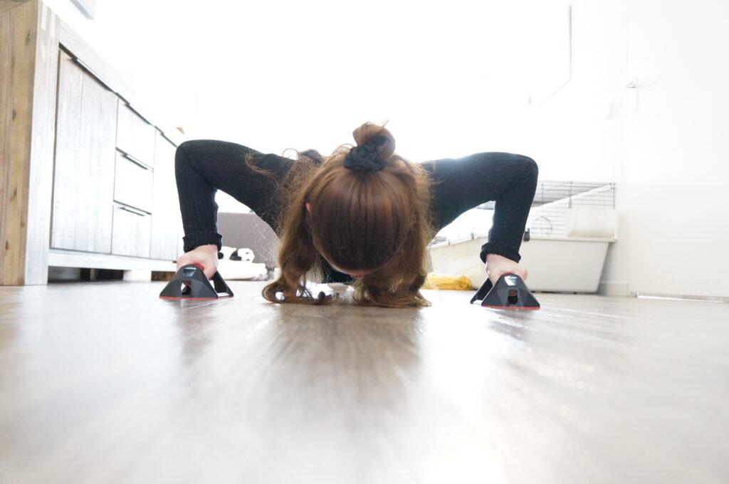 Fysiotherapie in de woonkamer